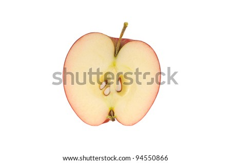 Apple in a cut on a white background - stock photo