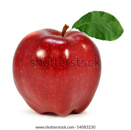 apple isolated on white - stock photo