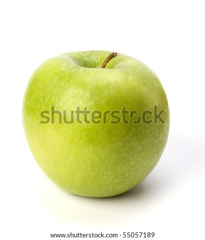 apple isolated on white background close up