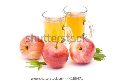 apple juice and fresh fruits
