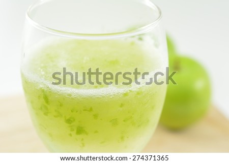 Apple juice smoothie