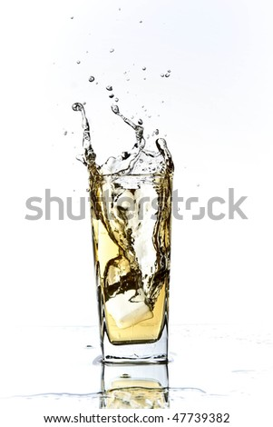 apple juice splash - stock photo