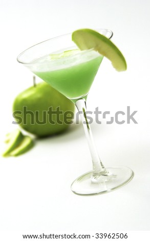 Apple martini - stock photo