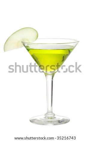 Apple martini - stock photo