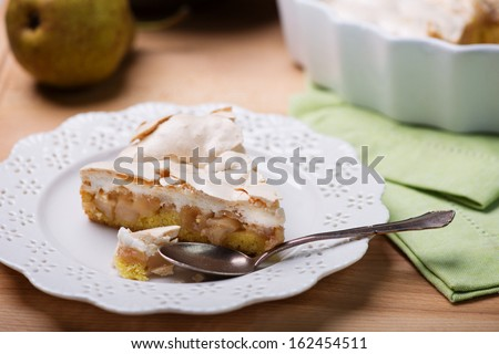 Apple meringue cake - stock photo