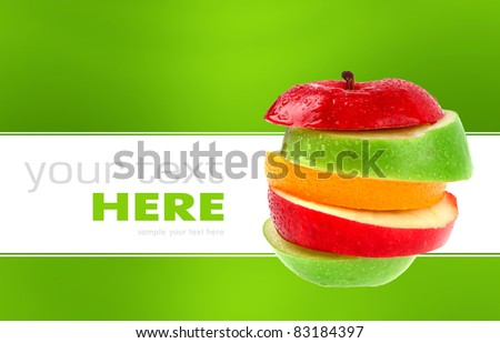 Apple mix isolated on a background