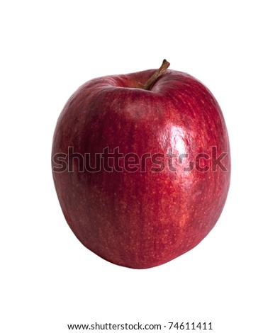 Apple of red color separately on a white background
