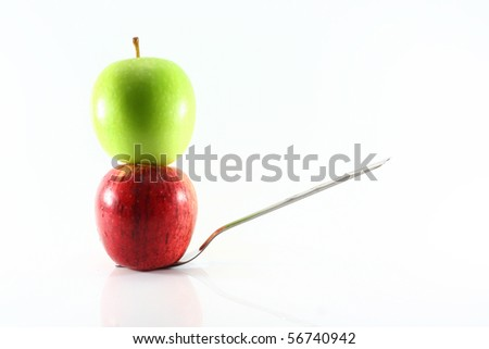 apple on fork