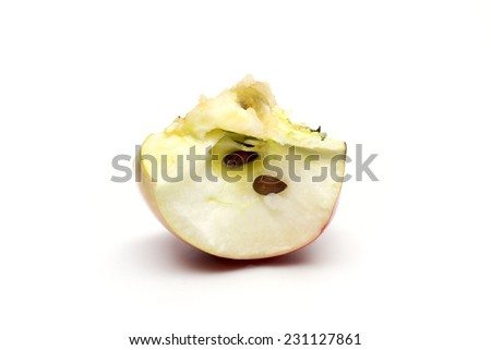 apple on the white background