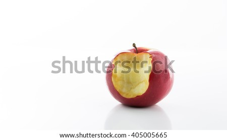 Apple on white background.