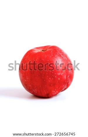 Apple on white background - studio shot - stock photo