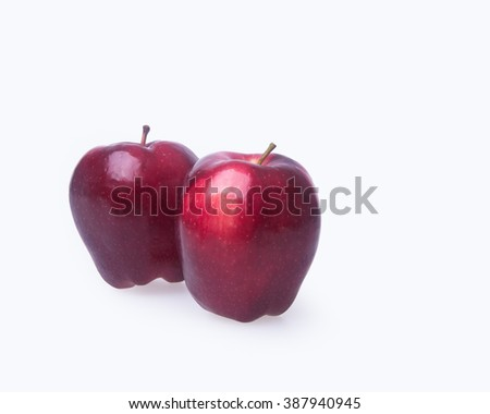 apple or two red apple on a background - stock photo