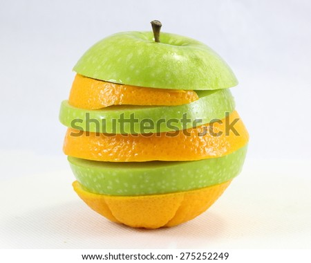 Apple orange art stack