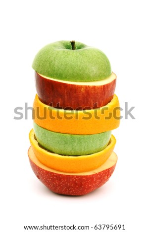 apple orange pile