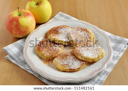 Apple Pancakes - stock photo