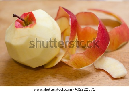 Apple peel - stock photo