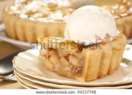 Apple Pie Ala Mode. Unsharpened file - stock photo