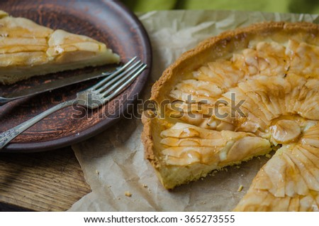 Apple pie. Apple tart. Homemade cakes. Bakery products.