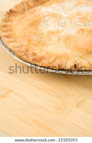 Apple Pie close up shot
