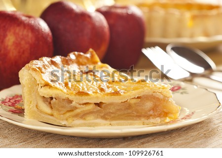 Apple Pie Non sharpen file - stock photo