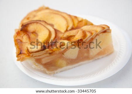 Apple pie on a plate