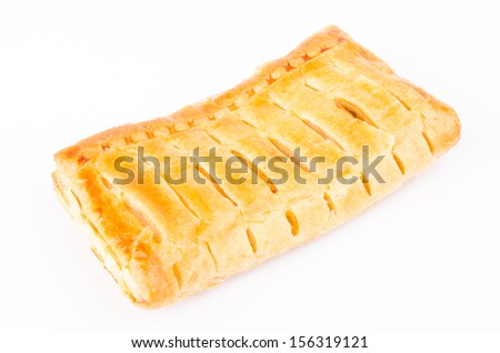 Apple pie on white background - stock photo