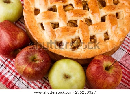 Apple Pie, Pie, Apple. - stock photo