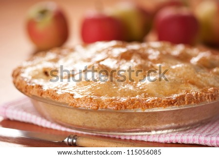Apple Pie. Unsharpened file. - stock photo