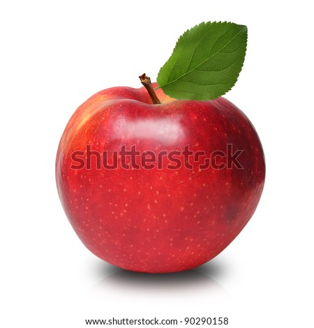 Apple red isolated - stock photo