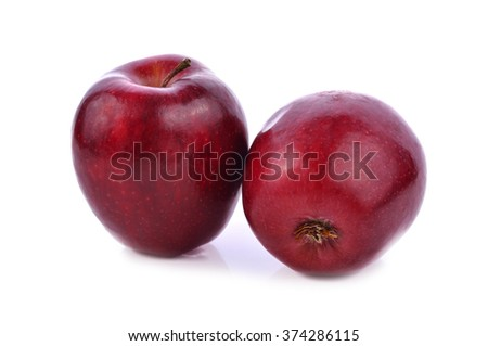 Apple red isolated on white background .