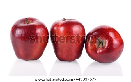 Apple red isolated on white background.