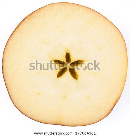Apple slice  - stock photo