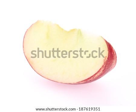 Apple slice on white background - stock photo