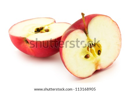 apple slices - stock photo