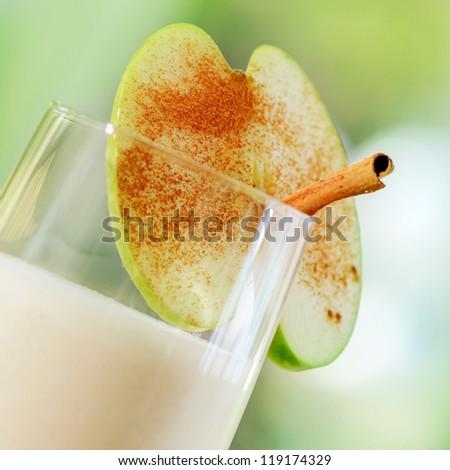 apple smoothie - stock photo