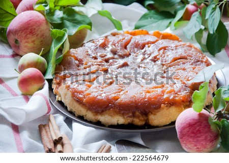Apple Tarte Tatin - stock photo