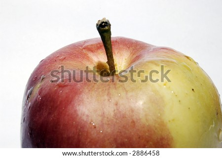 Apple - top view on white background