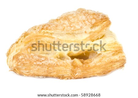 Apple Turnover Isolated on White
