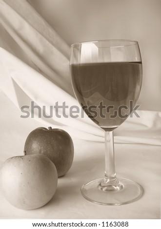 apple wine - stock photo