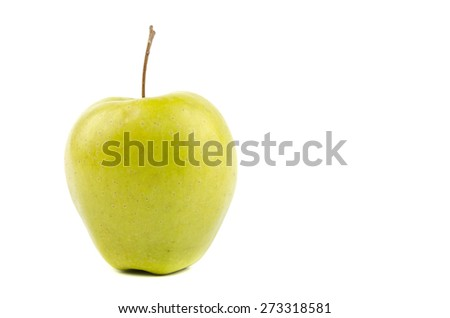 apple with appendage on a white background - stock photo