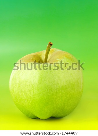 Apple with gradient background. - stock photo