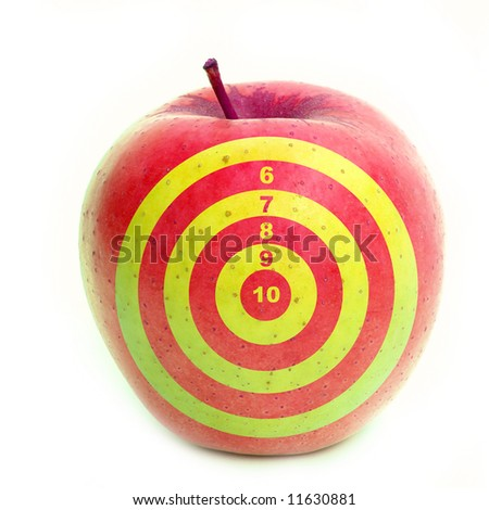 Apple with target on it - stock photo