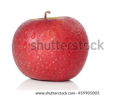 Apples and white background
