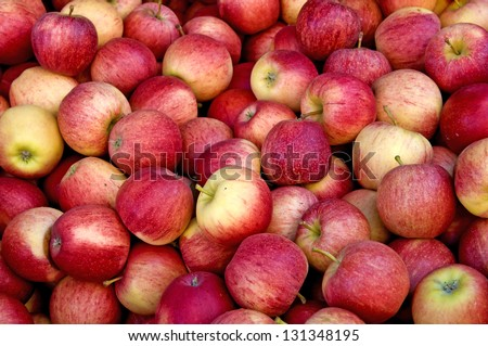 apples at a street sale - stock photo