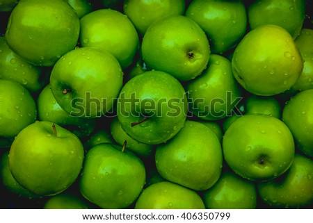 Apples green - stock photo