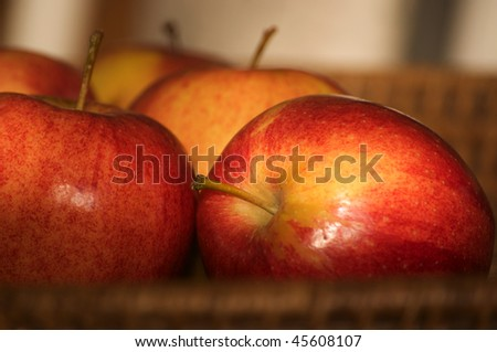apples in a basket - stock photo