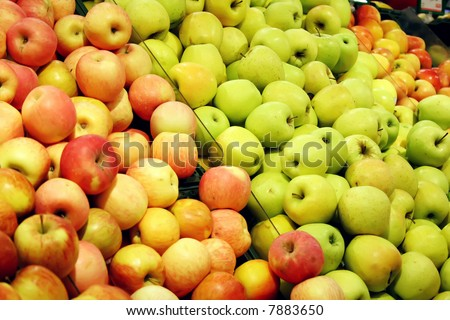 Apples in a shop - stock photo