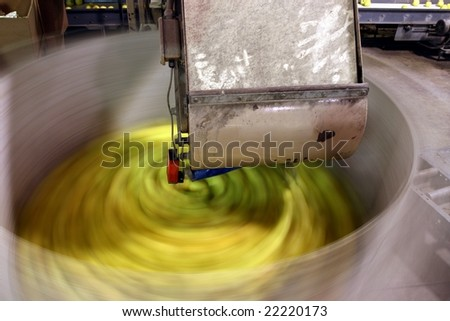 Apples in spinning bin - stock photo