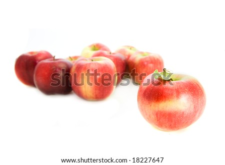 apples isolated
