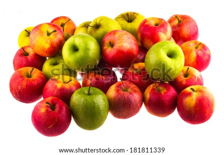 Apples isolated on white background. - stock photo